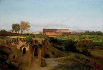 Veduta del Colosseo e del Palatino
