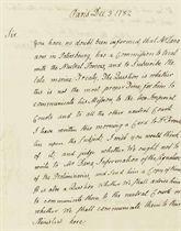 ADAMS, John (1735-1826) Autograph letter signed (
