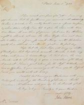 ADAMS, John Letter signed (