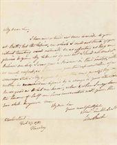 [AMERICAN REVOLUTION] BURKE, Edmund (1729-1797) Autograph le