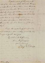 [AMERICAN REVOLUTION] TALLMADGE, Benjamin (1754-1835) Autogr