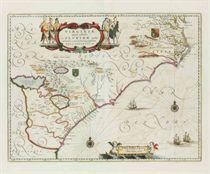 BLAEU, Willem and Jan Virginiae partis australis, et Florida
