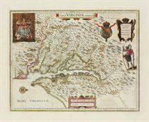 BLAEU, Willem and Jan Nova Virginiae Tabula [Amsterdam, 1662