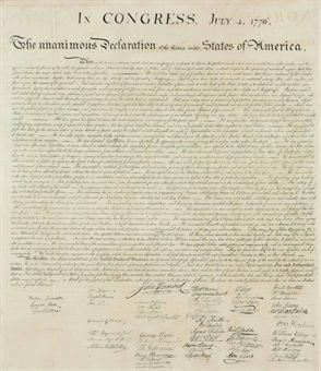 an overview of the topic of the unanimous declaration of the thirteen united states of america A short summary of thomas jefferson's the declaration of independence (1776)   the new nation will be called the united states of america and will have no.