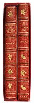 DODGSON, Charles Lutwidge ('Lewis Carroll'). Alice's Adventures in Wonderland. London: Macmillan & Co., 1866. 8° (189 x 126mm). Half-title, 42 illustrations from the woodcuts by Dalziel after John Tenniel. (Occasional light marginal soiling). Modern red morocco gilt by Bayntun, white rabbit stamped in gilt on front cover, inner dentelles, gilt edges (spine very lightly sunned), original cloth bound in at end, preserved together with the above in a cloth slipcase. SECOND (FIRST PUBLISHED) EDITION. The first edition of 2,000 was recalled by Dodgson, following the unsatisfactory printing of Tenniel's illustrations, and was never offered for public sale. Without the inverted 'S' in last line of contents. Williams-Madan-Green-Crutch 46; Lovett Collection 3.