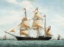 The French barque Sénégambie in Mediterranean waters off Marseilles