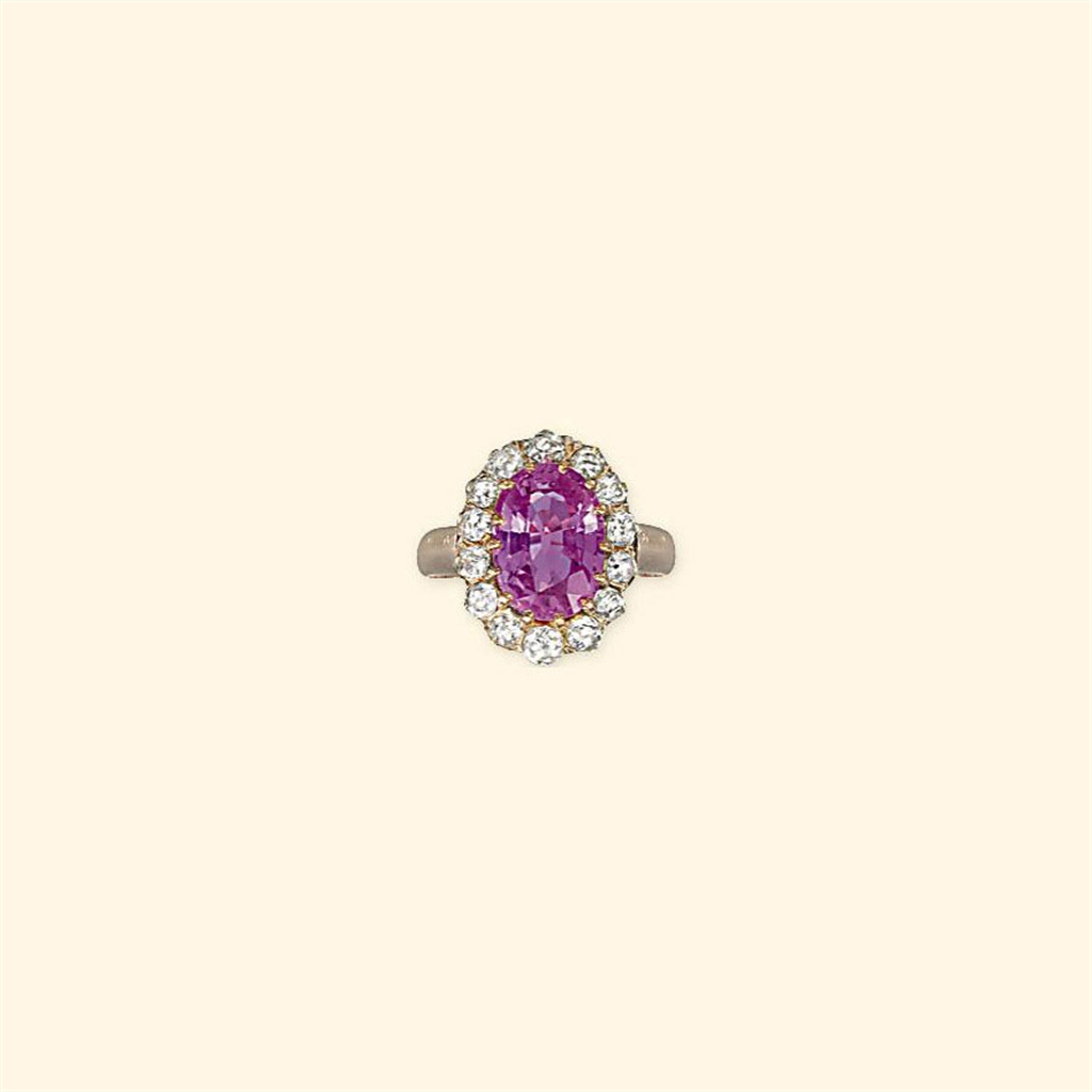 an antique pink sapphire and ring jewelry ring