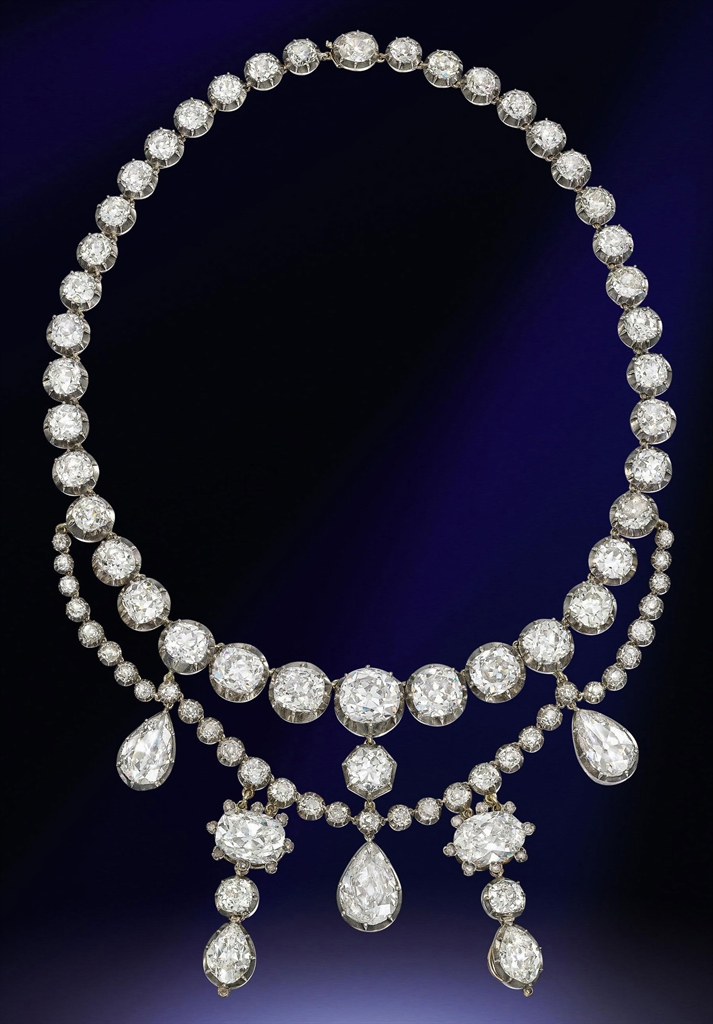 An Antique Diamond Necklace Jewelry Auction Jewelry