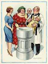 'He's what you might call of the 'prefabricated babies'!'
