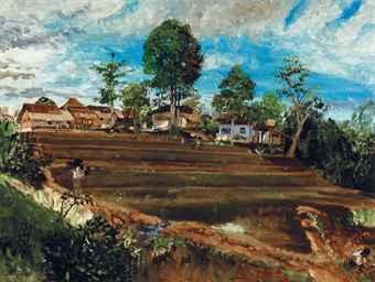 Pemandangan Sawah di Tjipayung (Rice Fields in Tjipayung)
