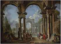 An architectural capriccio with Christ at the Pool of Bethesda