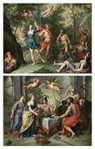 Apollo and Daphne; and An Allegory with Labour being rewarded by Abundance and Peace, witnessed by Minerva and Time