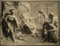 Lucretia confessing to her father and husband - a feigned relief