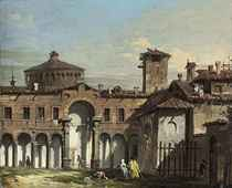 A view of Milan, with the drum and the cupola of Santa Maria delle Grazie