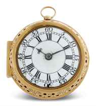 THOMAS WINDMILLS. A GOLD PAIR CASE GOLD VERGE CLOCKWATCH