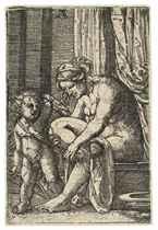 Venus after the Bath (Bartsch 34; Wizinger 167)