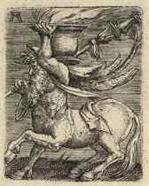Centaur carrying a Vase with Fire (Bartsch 37; Winzinger 154)