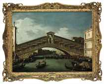 The Rialto Bridge, Venice, on the Grand Canal, looking south-east, with the Fondaco dei Tedeschi on the right