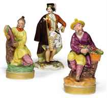 THREE RUSSIAN PORCELAIN FIGURES