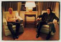 Portrait of Dennis Hopper and Christopher Walken at Chateau Marmont, 1995