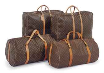 SIX PIECES OF LOUIS VUITTON LUGGAGE,