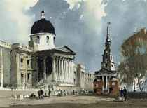 The National Gallery and St Martin in the Fields