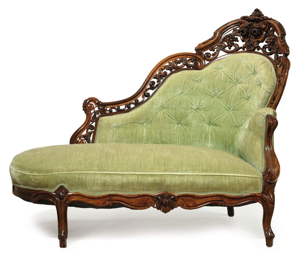 A Rococo Revival Carved And Laminated Rosewood Meridienne