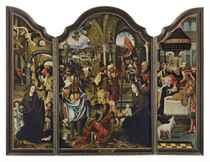Triptyque: l'Adoration des Mages; la Nativité; et la Circoncision