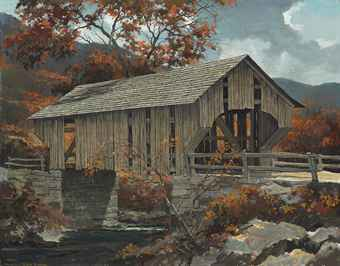 The Covered Bridge, Autumn