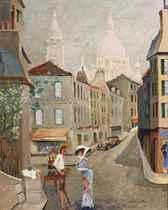 Du coté de la rue Poulbot: the painter at work