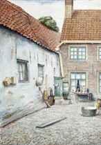 Stukje Oud-Elburg: at the courtyard