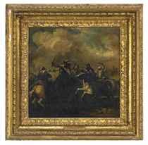A cavalry skirmish