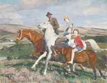 George, Hilda and Mary riding in Purbeck