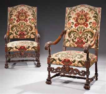 paire de fauteuils de style louis xiv xix me si cle books manuscripts auction armchair. Black Bedroom Furniture Sets. Home Design Ideas
