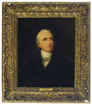 Portrait of a gentleman, head and shoulders, wearing black costume