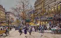 Sur le boulevard Bonne Nouvelle à Paris