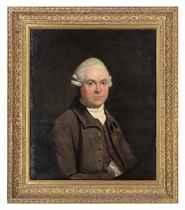 Portrait of Mr. Buchan, half-length, in a brown coat