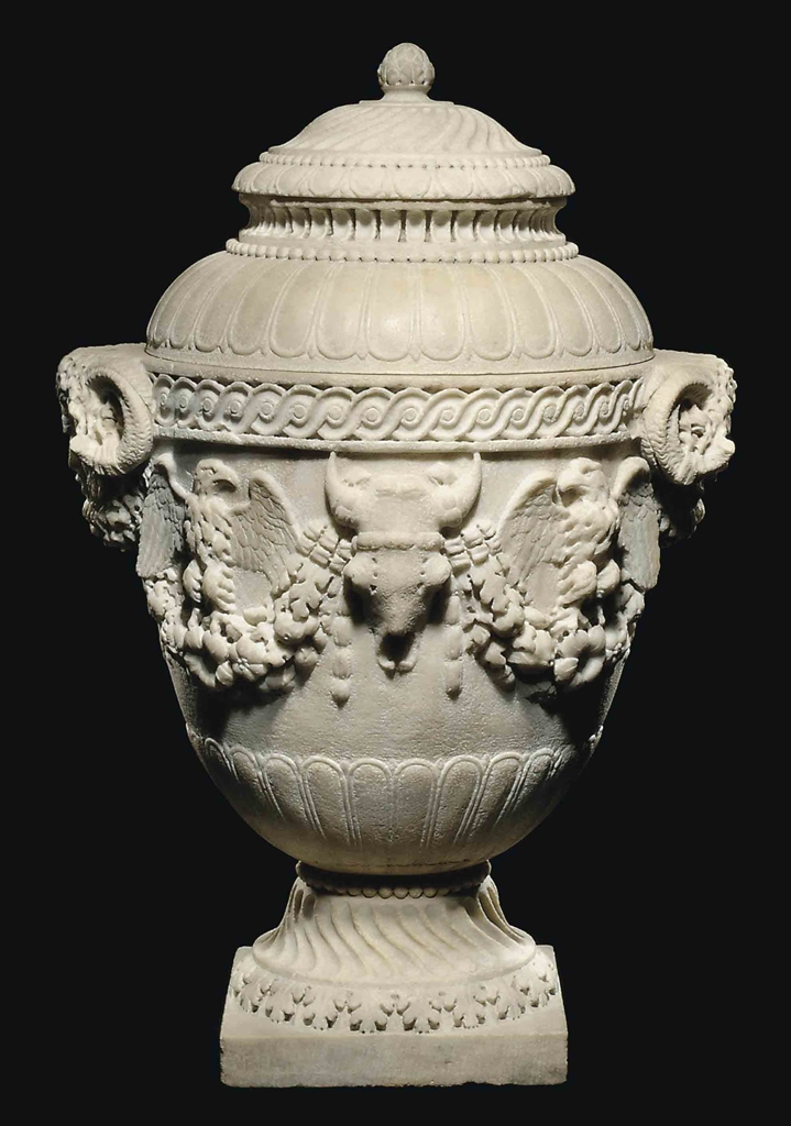 A Roman Marble Cinerary Urn Circa A D 50 100 With 18th