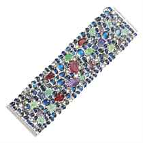 A STRIKING DIAMOND AND MULTI-GEM BRACELET, BY MICHAEL YOUSSO