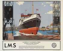 LAUNCH OF T.S.S. DUKE OF YORK,  QUEEN'S ISLAND, BELFAST