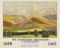 THE CAIRNGORM MOUNTAINS, AS SEEN FROM AVIEMORE