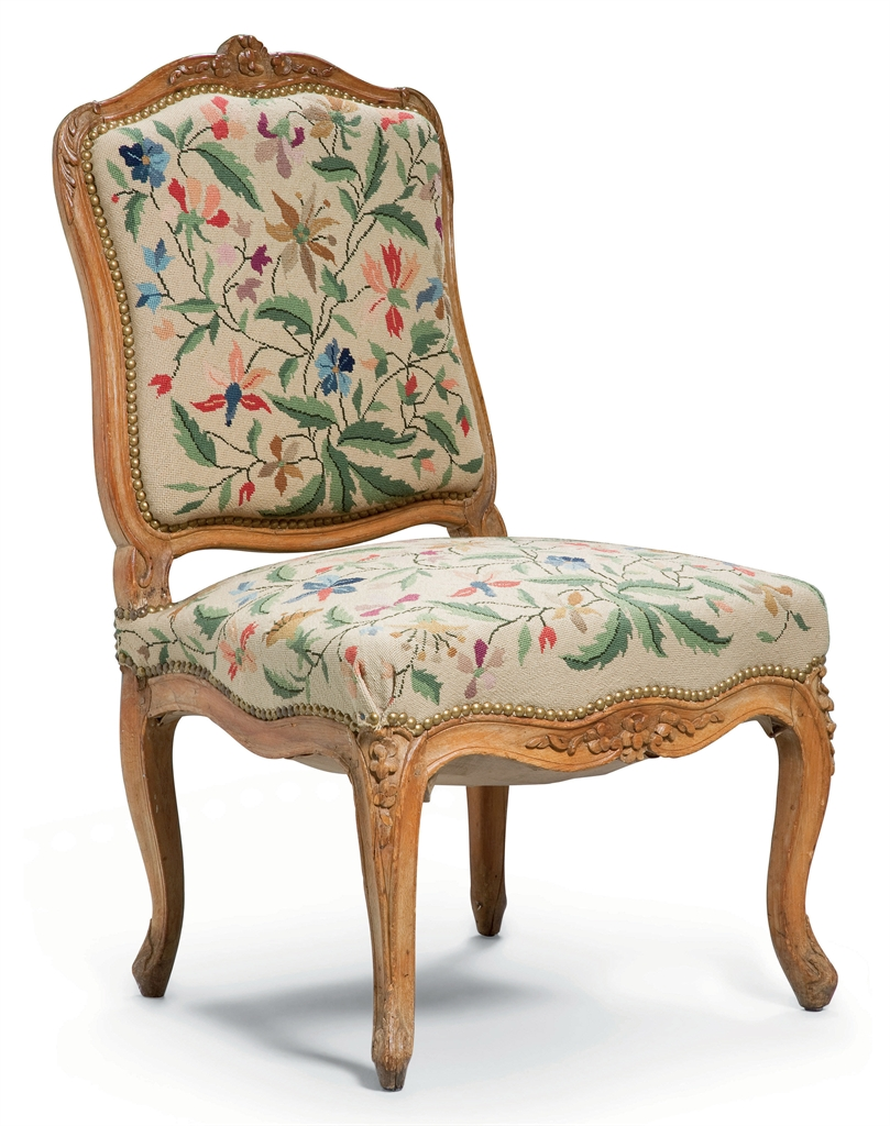 Chaise a la reine d 39 epoque louis xv trace d 39 estampille for Chaise louis xv