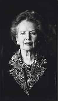 Portrait of Margaret Thatcher, Anaheim, California, 1991
