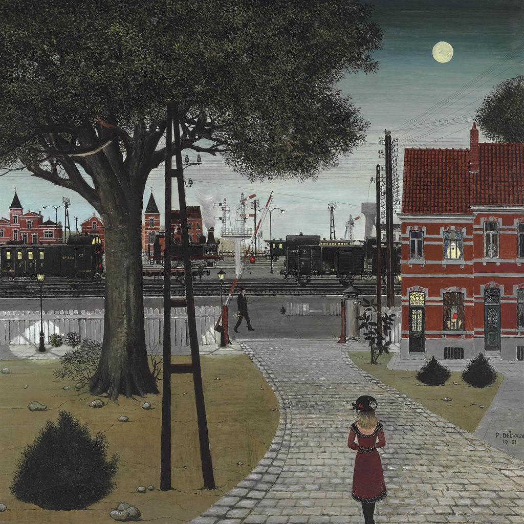 Paul delvaux 1897 1994 le passage niveau for Paul delvaux le miroir