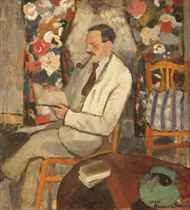 Le fumeur (portrait of Armand Frisch): de roker