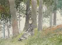 Girl Seated in a Grove