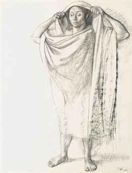 Mujer con los brazos levantados