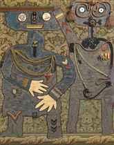 Il conte Suwrow Rjnniskj con il suo aiutante di campo durante la campagna di Russia