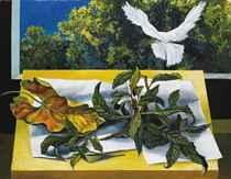 Foglie di nespolo e colomba