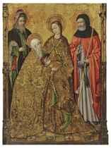 The Visitation with Saints Zacharias and Joseph